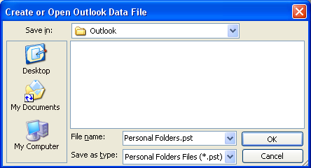 how to create personal folders in outlook